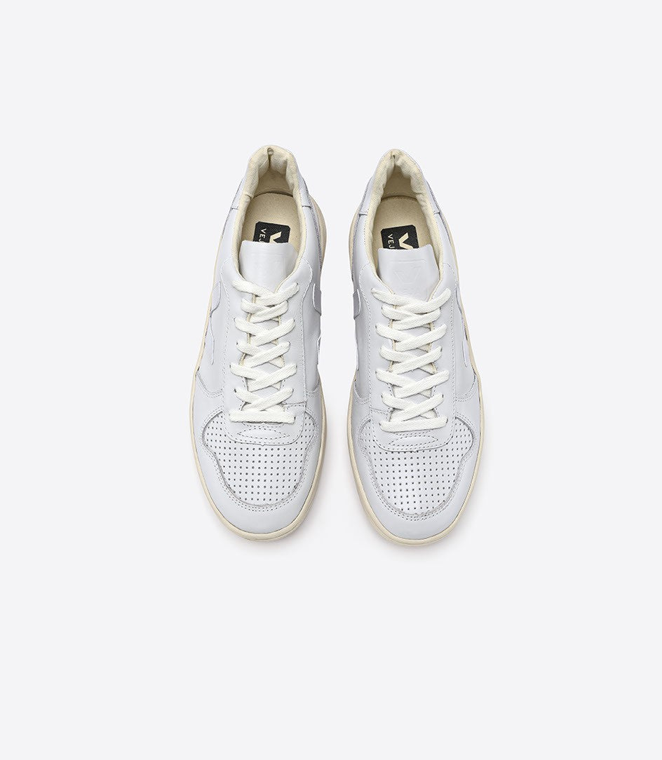 VEJA Men's V-10 Extra White Leather Sneaker
