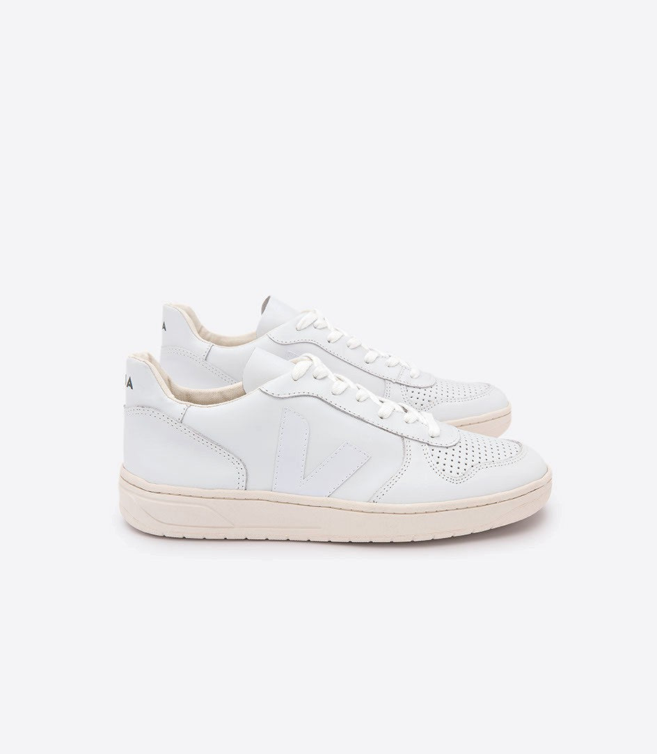VEJA V10 Extra White Leather Sneaker