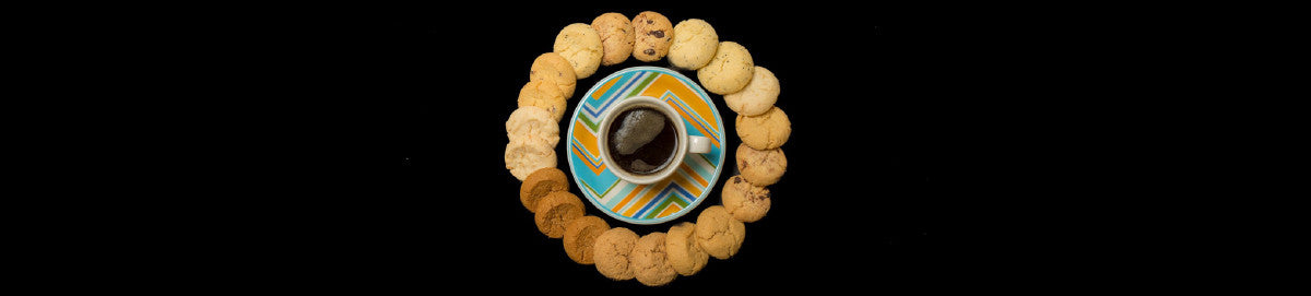 Cookie bites with coffee