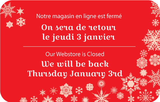 Webstore Closed