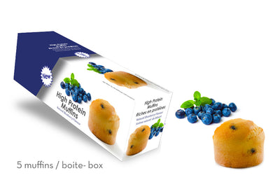 High-Protein Blueberry Muffin (Box of 5)