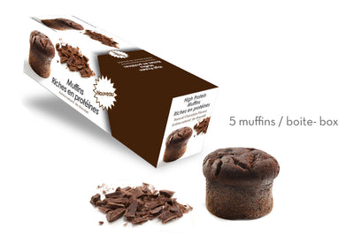High-Protein Chocolate Muffin (Box of 5)