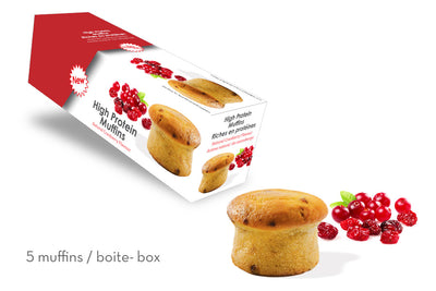 High-Protein Cranberry Muffin (Box of 5)
