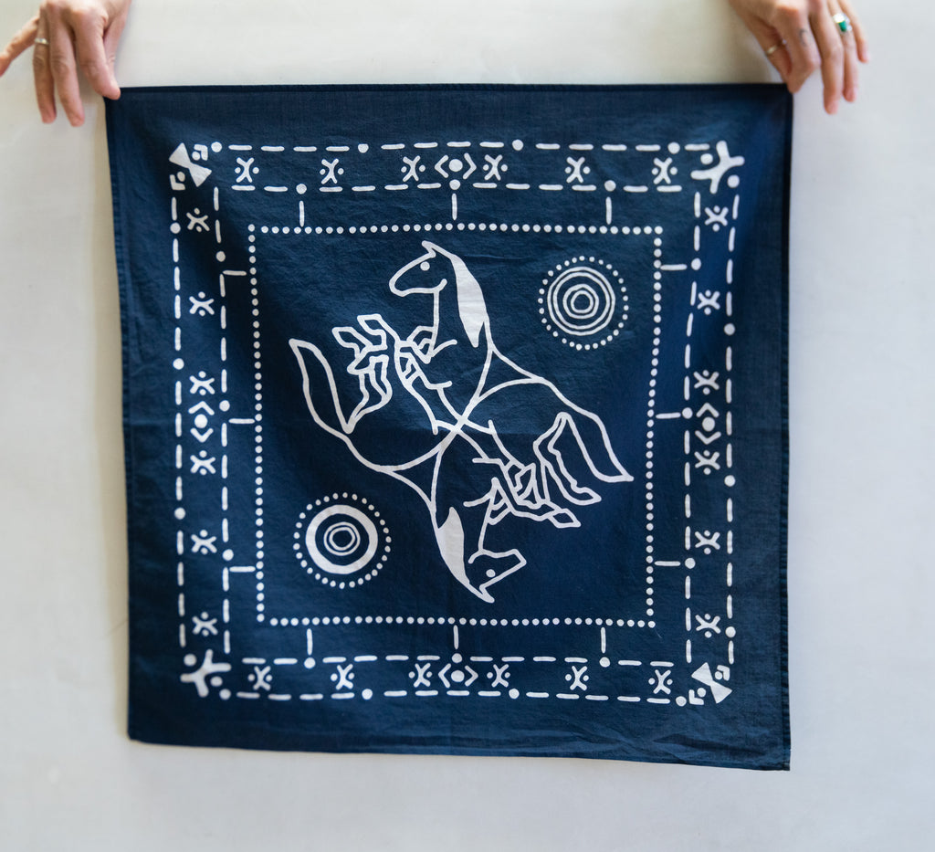 Cotton Bandana Navy