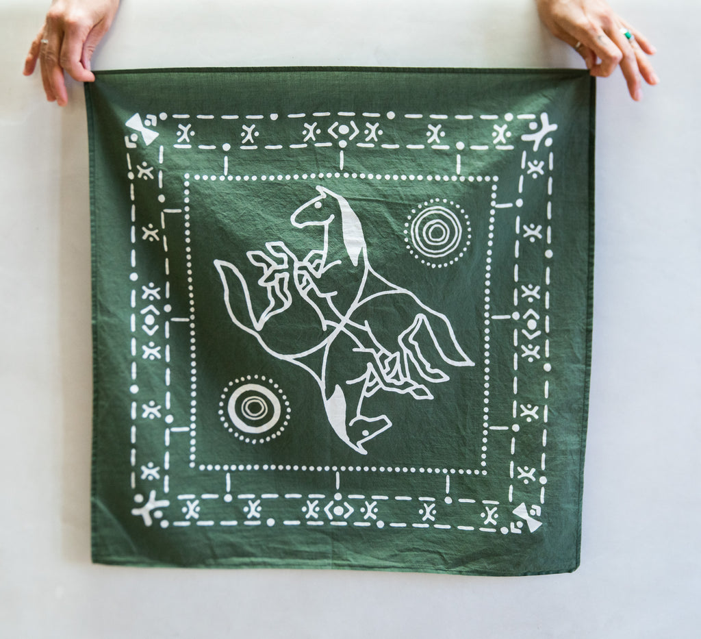 Olive cotton bandana