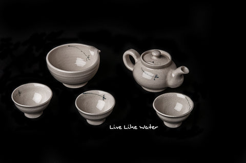 3 Person Korean Tea Set
