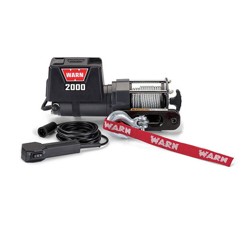 2000DC 12V Utility Winch 10.7m Wire Rope - Trek Hardware