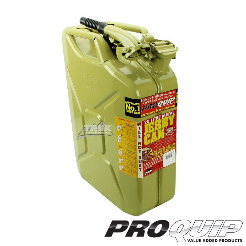 20L AFAC OLIVE YELLOW METAL JERRY CAN (DIESEL) - Trek Hardware