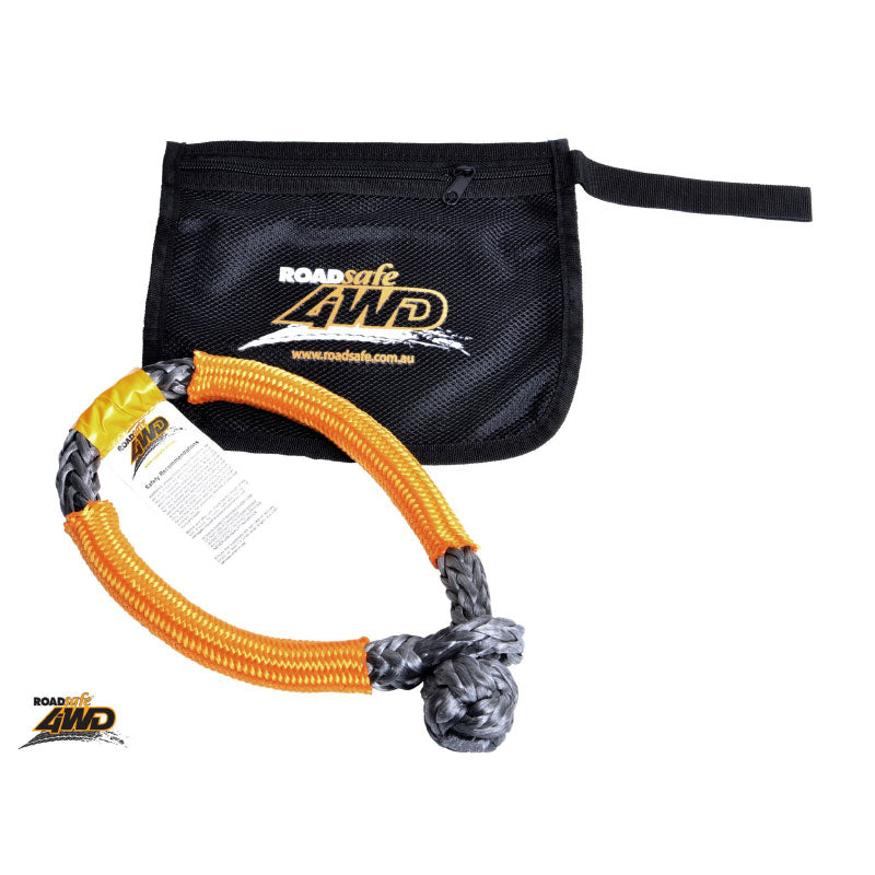 4WD SOFT SHACKLE grey with orange sheath WITH BONUS DRYING BAG - Trek Hardware
