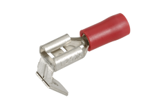 6.3 X 0.8MM MALE/ FEMALE CONNECTOR RED