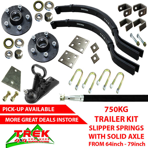 750KG KIT, SLIP SPRINGS SOLID AXLE - Trek Hardware