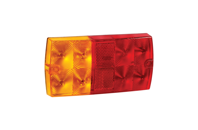 9-33 VOLT MODEL 36 LED SLIMLINE REAR COMBINATION LAMP WITH LICENCE PLATE LAMP
