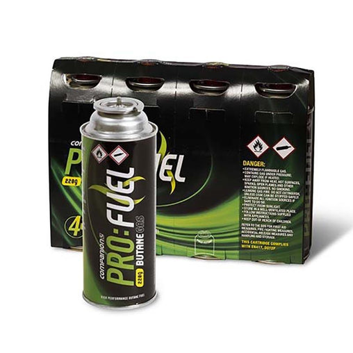 BUTANE GAS 220G 4 PACK - Trek Hardware