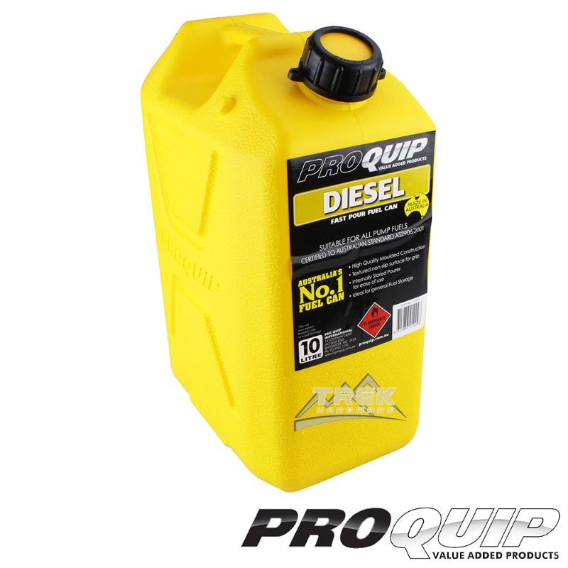 Fast Flow 10L Plastic Fuel Can Yellow (Diesel)