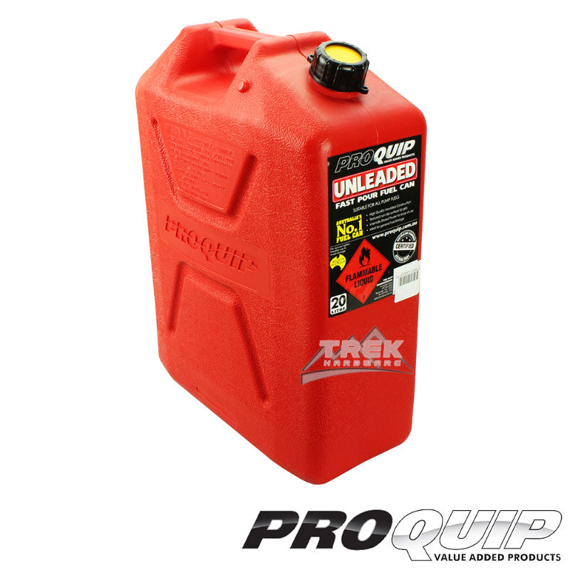 Fast Flow 20L Plastic Fuel Can Red (Unleaded)