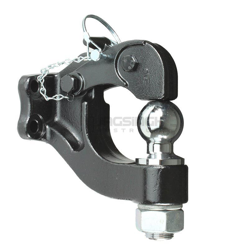Pintle Hook With Towball Rated 8 Tonne