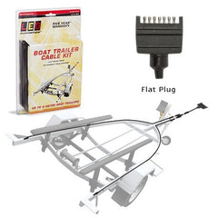 Boat Trailer Cable Kit (8m Cable and Flat Plug)