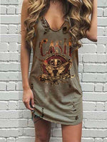 Brown Statement Cotton Dresses
