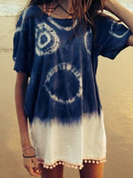 Blue Casual Cotton Dresses