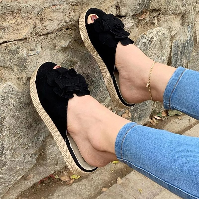 Women Casual Summer Flower Platform Sandals