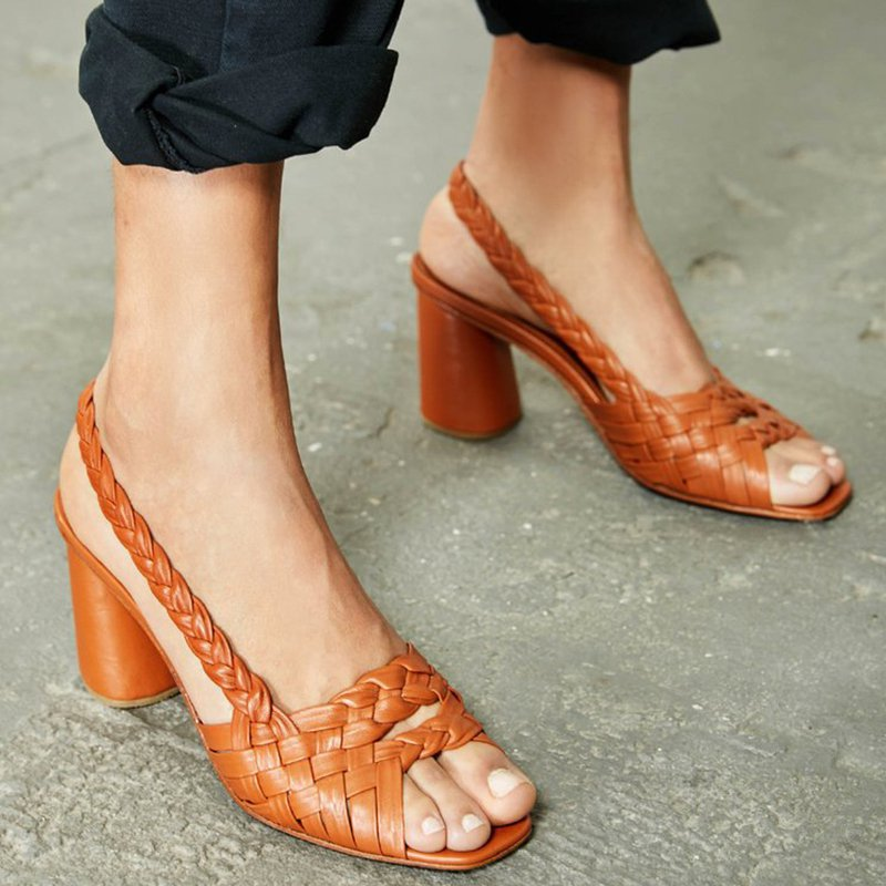 Chunky Heel Summer Pu Sandals