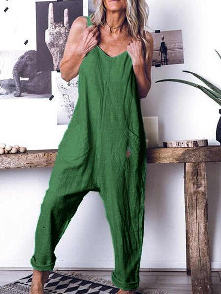 Women Sleeveless Casual Romper Jumpsuits