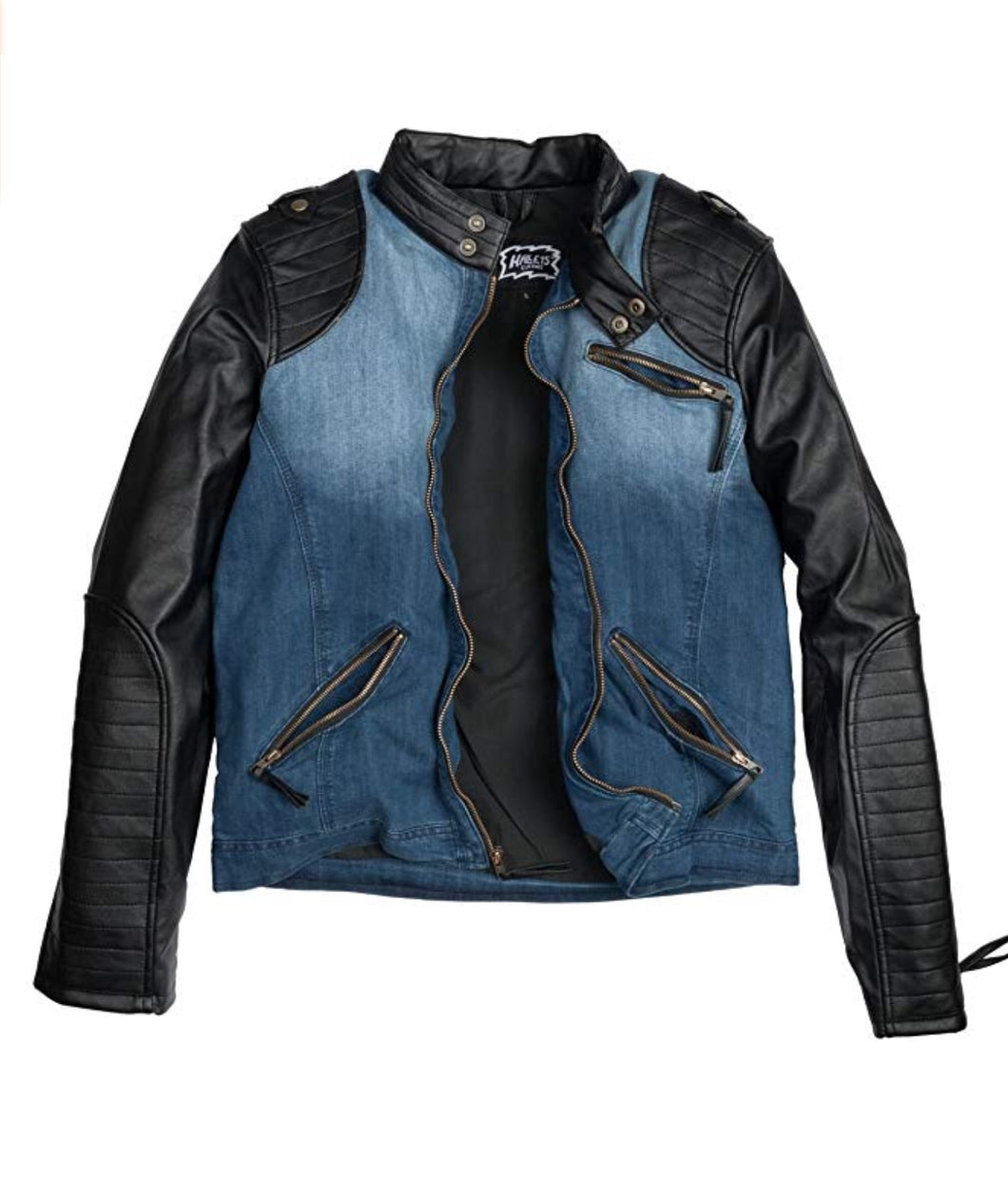 Herren Outdoorjacke - BIKER Denim Midblue