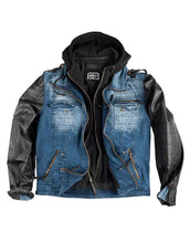 Laden Sie das Bild in den Galerie-Viewer, Herren Outdoorjacke - Battlejacket Midblue Denim