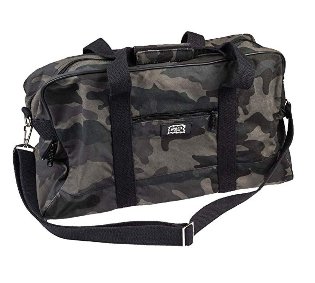 Black Camouflage BW Messenger Bag - Umhängetasche/Canvas Bag - H15 Reisetasche