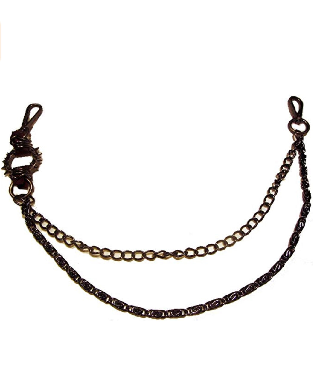 Hosenkette - Bikerkette - Schlüsselkette - Spike Gate Brown - BK30