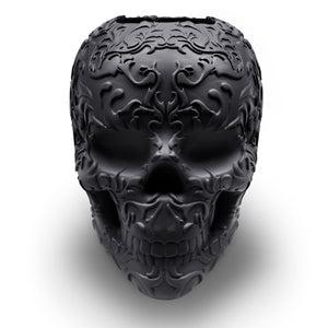 Skull makeup brush holder - Black