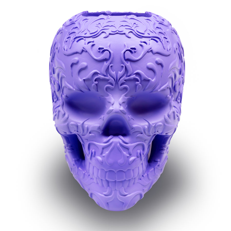 Skull makeup brush holder - Purple