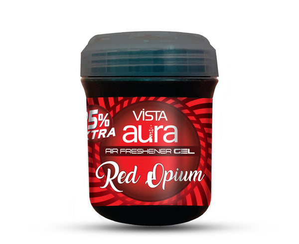 VISTA AURA AIR FRESHENER GEL RED OPIUM 100gm