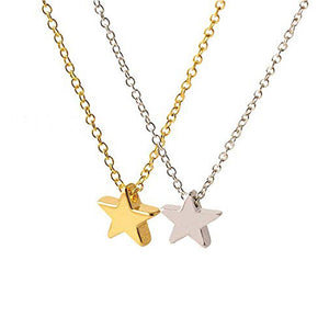 Star necklace for women gold silver star necklace