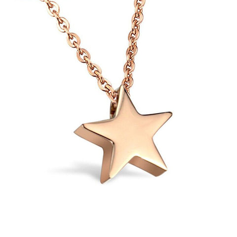 Star choker necklace women gold silver star necklace