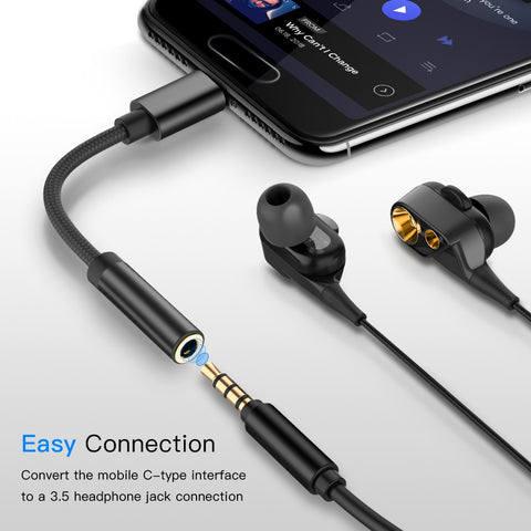 Image of Type-C Ear Phone Connector to 3.5mm for Samsung