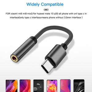 Type-C Ear Phone Connector to 3.5mm for Samsung