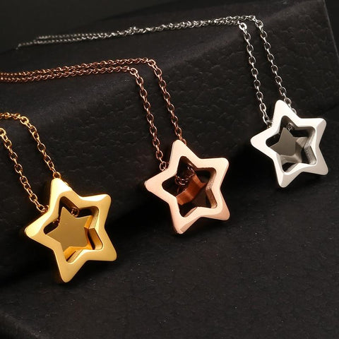 Star Pendants Necklaces For Women On Discount