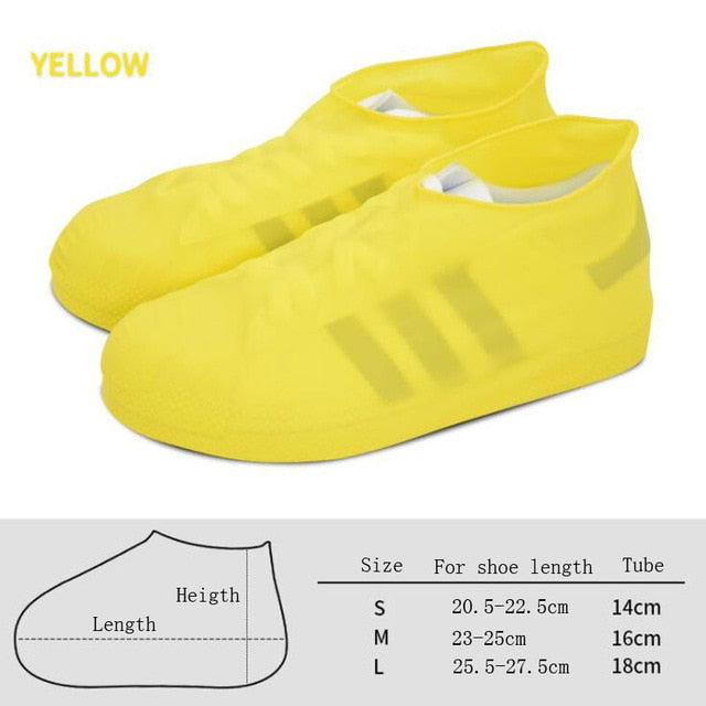Outdoor latex shoe cover rainy day waterproof thickening non-slip wear foot cover