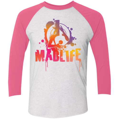 Unisex Sunset MadLife Logo 3/4 Sleeve Baseball Raglan T-Shirt