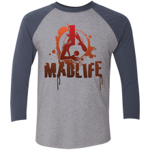 Load image into Gallery viewer, Unisex Red MadLife Logo 3/4 Sleeve Baseball T-Shirt