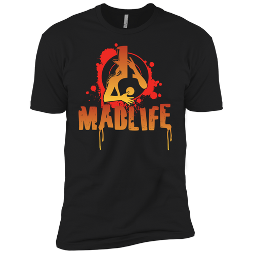 Mens' Orange MadLife Logo Short Sleeve T-Shirt