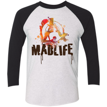 Load image into Gallery viewer, Unisex Camo MadLife Logo 3/4 Sleeve Baseball Raglan T-Shirt