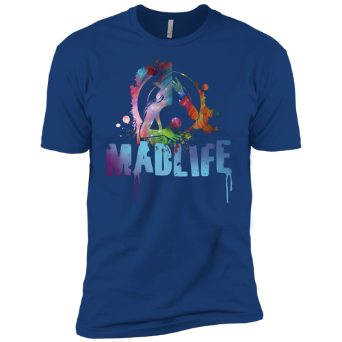 Men's Multi-Color MadLife Logo Short Sleeve T-Shirt