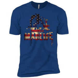 Men's USA Flag MadLife Logo Short Sleeve T-Shirt