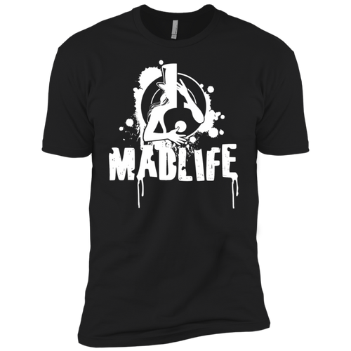 Men's White MadLife Logo Short Sleeve T-Shirt