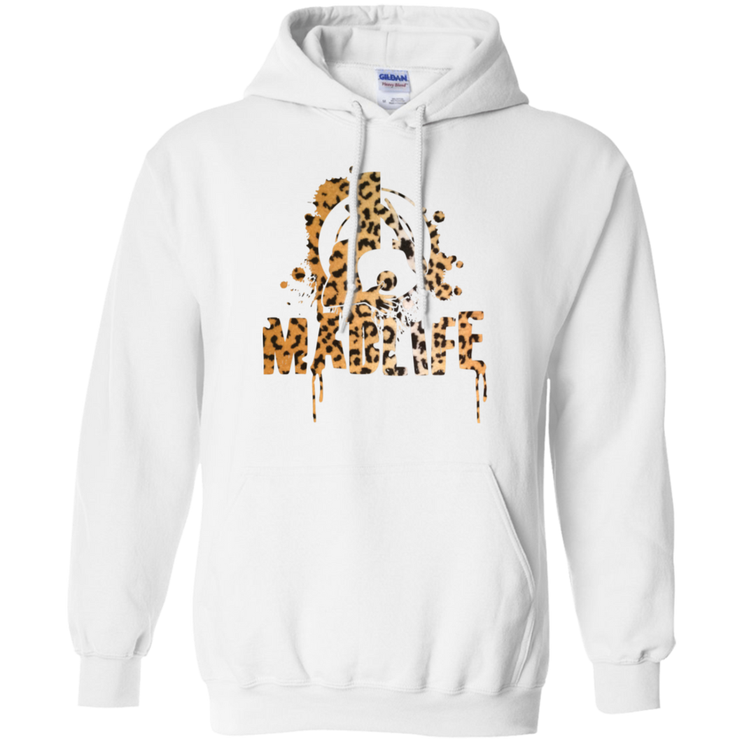 Ladies' Cheetah MadLife Logo Boyfriend Hoodie
