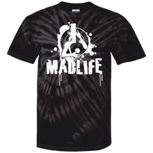 Load image into Gallery viewer, Unisex White MadLife Logo Short Sleeve Tie Dye