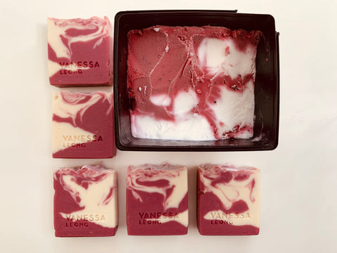 Pomegranate Berry Swirl Soap