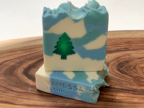 Christmas Tree Soap (Blue)
